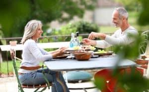 healthy senior couple anti aging